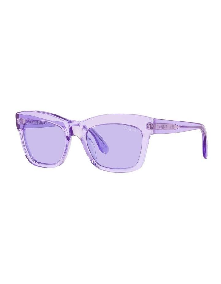 MBB X VOGUE Purple Transparent Rectangle Sunglasses 0VO5392S 1535988003 image 1