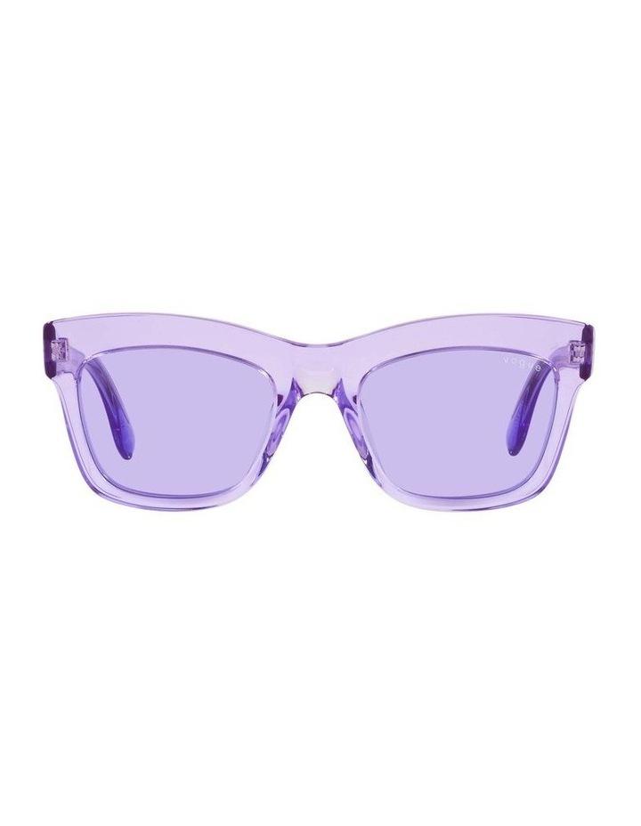 MBB X VOGUE Purple Transparent Rectangle Sunglasses 0VO5392S 1535988003 image 2