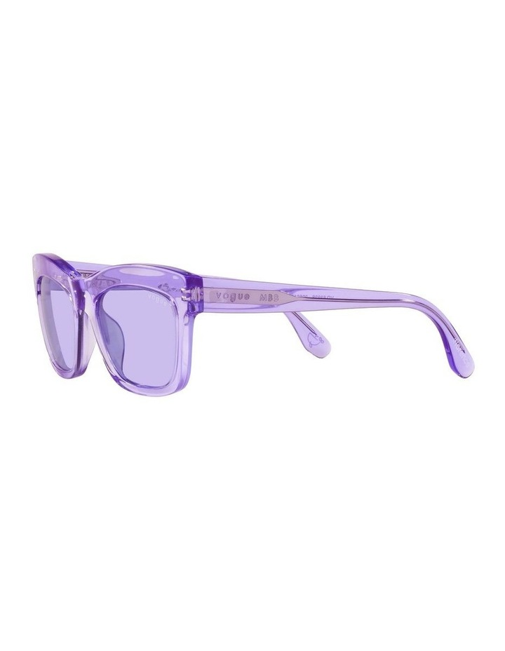 MBB X VOGUE Purple Transparent Rectangle Sunglasses 0VO5392S 1535988003 image 3