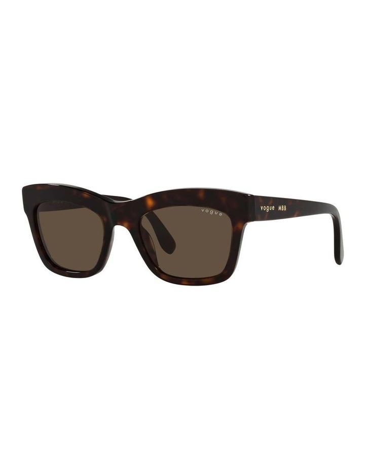 MBB X VOGUE Tortoise Rectangle Sunglasses 0VO5392S 1535988004 image 1