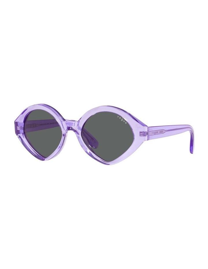 MBB X VOGUE Purple Transparent Oval Sunglasses 0VO5394S 1535991002 image 1