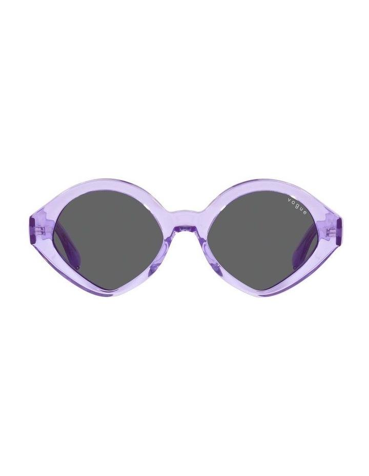MBB X VOGUE Purple Transparent Oval Sunglasses 0VO5394S 1535991002 image 2