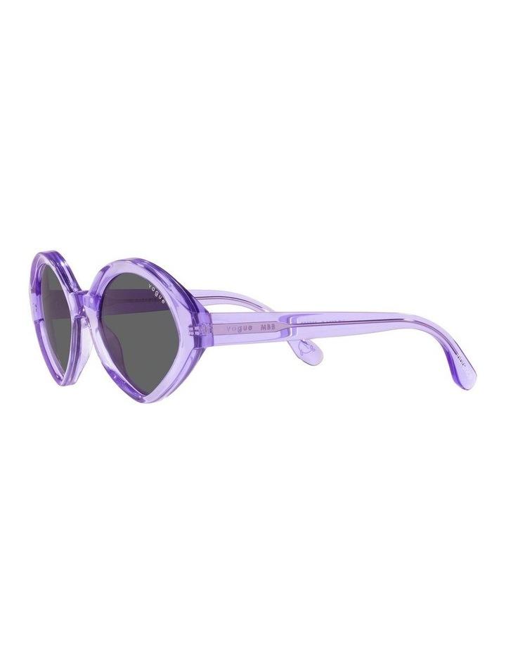 MBB X VOGUE Purple Transparent Oval Sunglasses 0VO5394S 1535991002 image 3