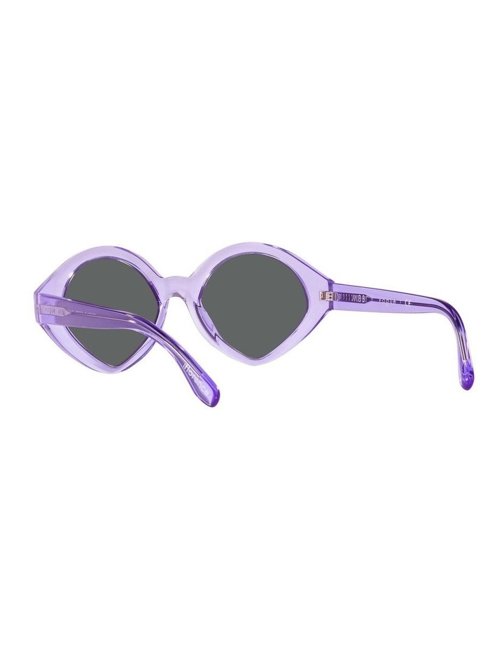 MBB X VOGUE Purple Transparent Oval Sunglasses 0VO5394S 1535991002 image 6