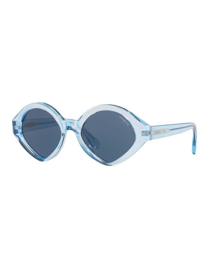 MBB X VOGUE Blue Transparent Oval Sunglasses 0VO5394S 1535991004 image 1