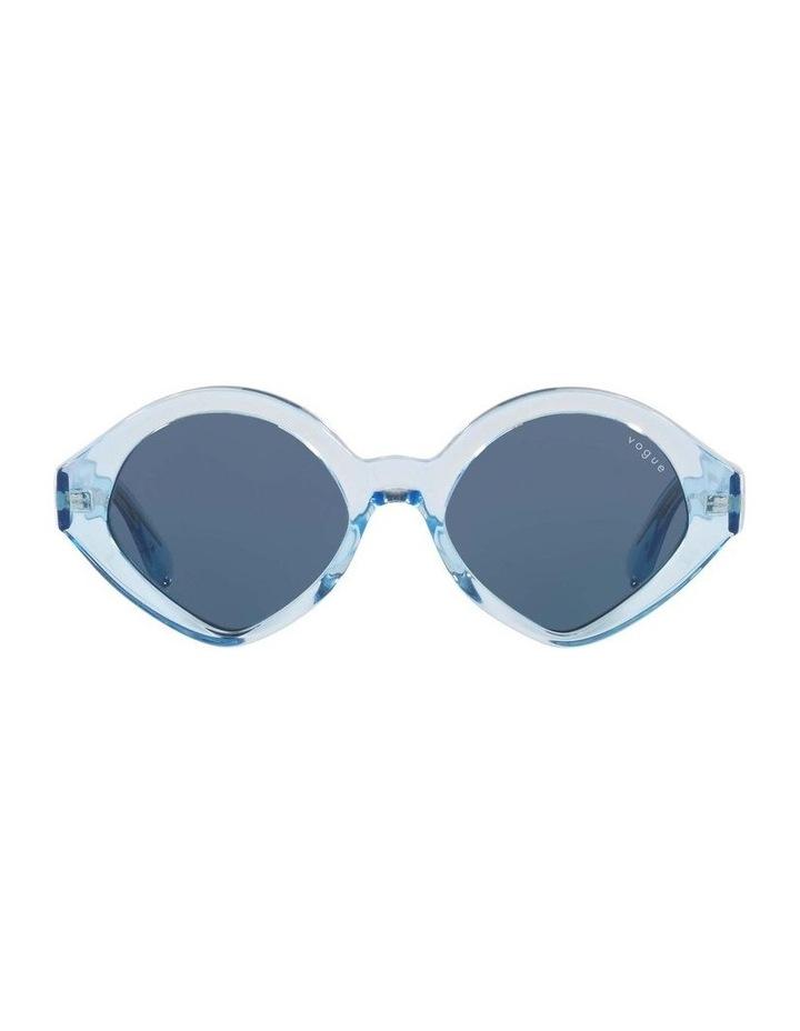 MBB X VOGUE Blue Transparent Oval Sunglasses 0VO5394S 1535991004 image 2