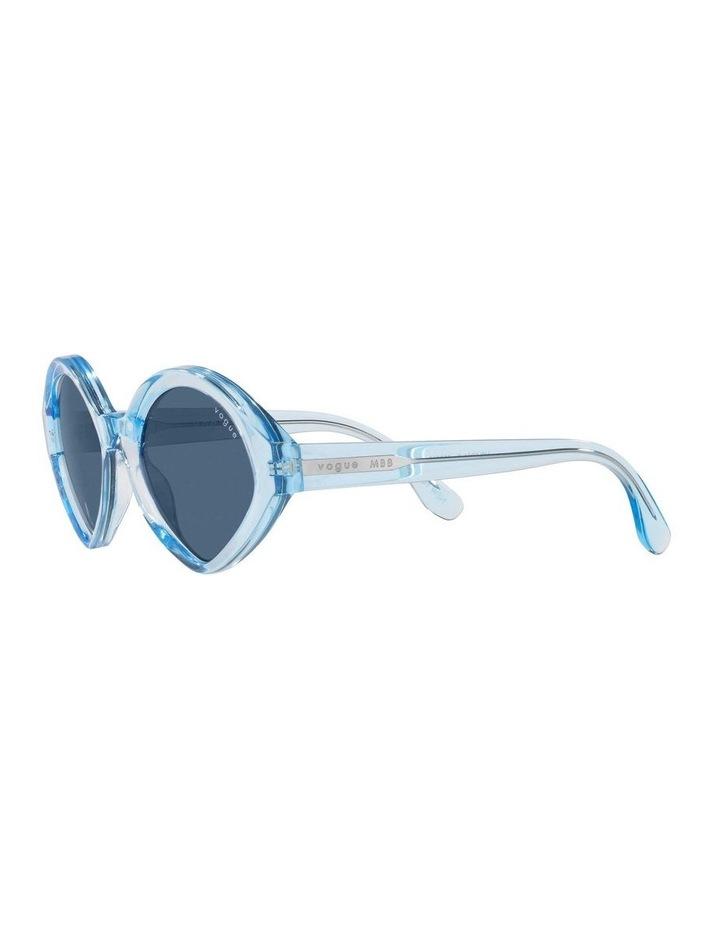 MBB X VOGUE Blue Transparent Oval Sunglasses 0VO5394S 1535991004 image 3