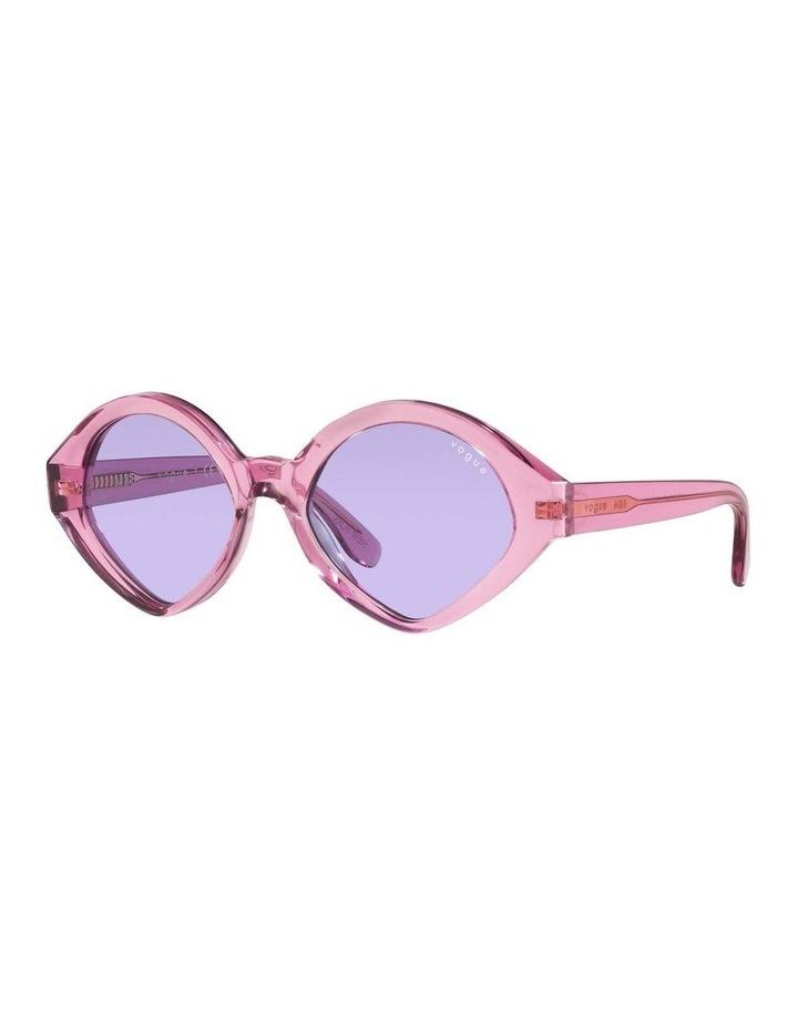MBB X VOGUE Pink Transparent Oval Sunglasses 0VO5394S 1535991006 image 1