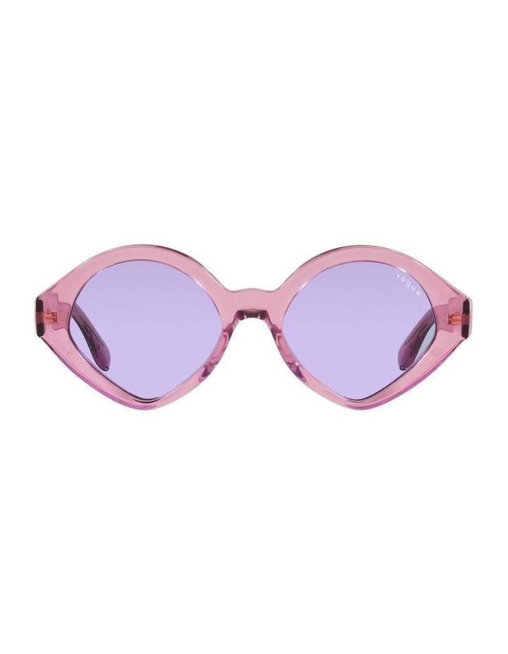 MBB X VOGUE Pink Transparent Oval Sunglasses 0VO5394S 1535991006 image 2