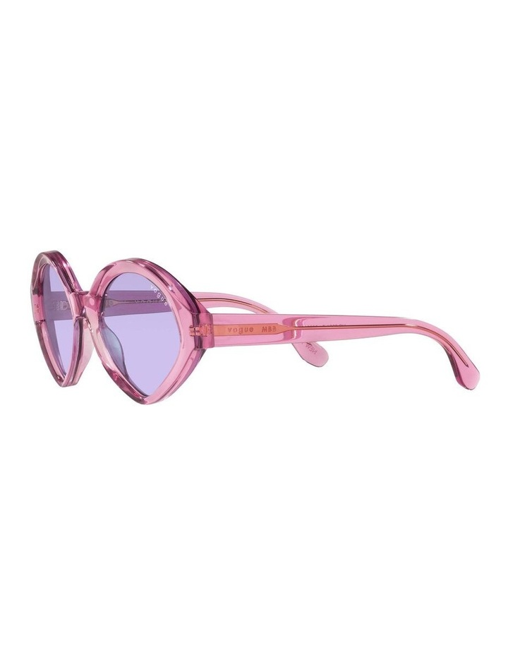 MBB X VOGUE Pink Transparent Oval Sunglasses 0VO5394S 1535991006 image 3