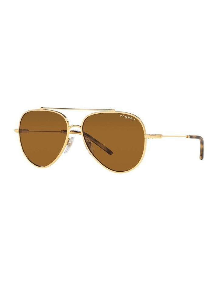 X VOGUE Polarised Gold Aviator Sunglasses 0VO4212SMBB 1536498001 image 1