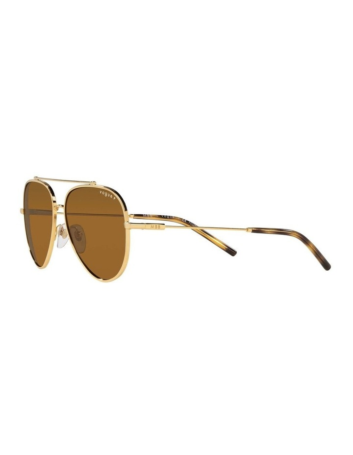 X VOGUE Polarised Gold Aviator Sunglasses 0VO4212SMBB 1536498001 image 3