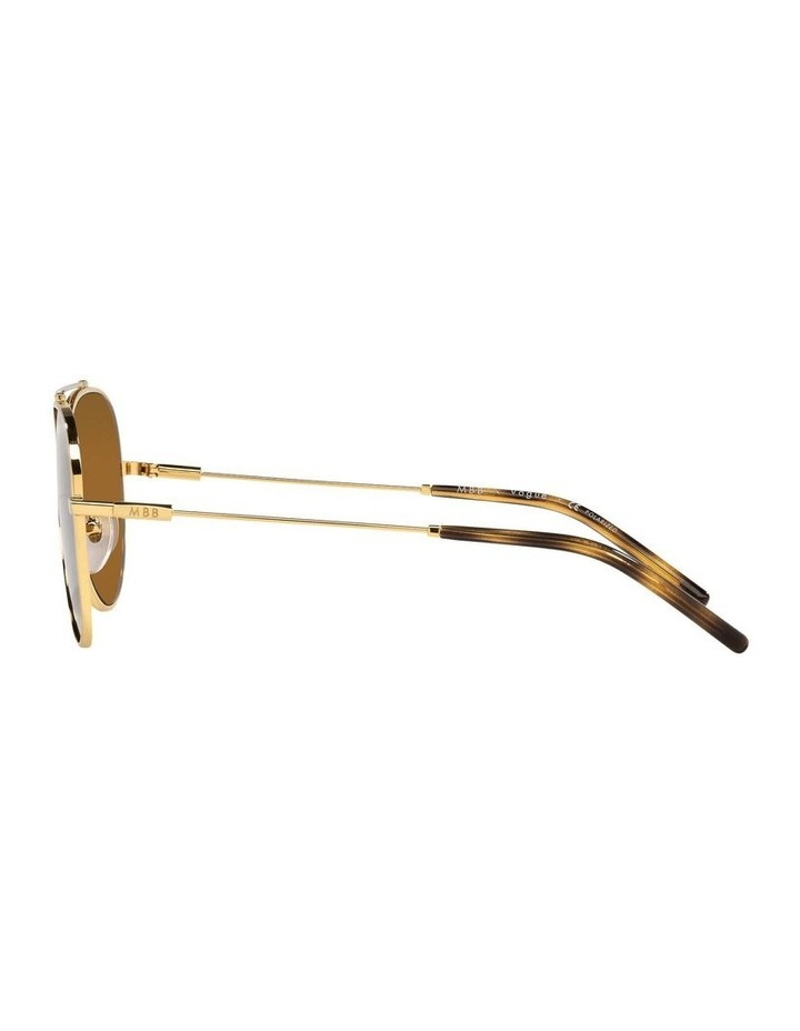 X VOGUE Polarised Gold Aviator Sunglasses 0VO4212SMBB 1536498001 image 4