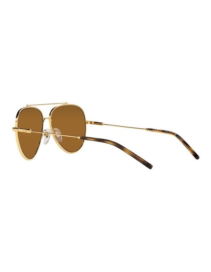 X VOGUE Polarised Gold Aviator Sunglasses 0VO4212SMBB 1536498001 image 5