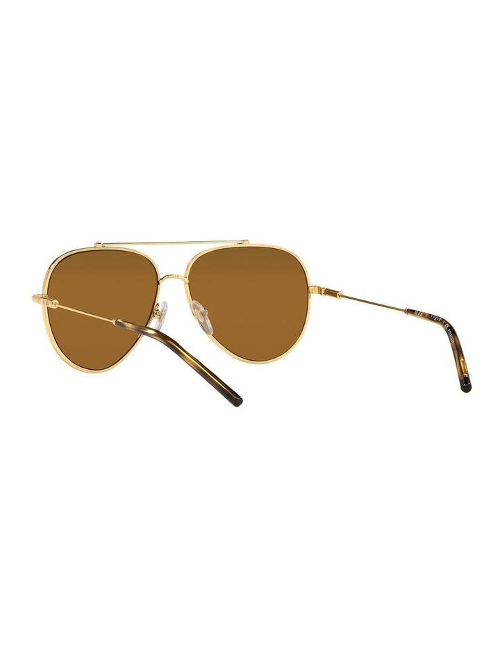 X VOGUE Polarised Gold Aviator Sunglasses 0VO4212SMBB 1536498001 image 6