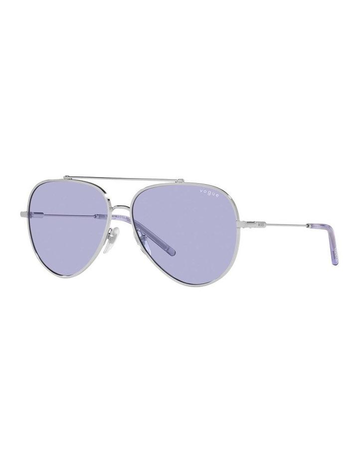 MBB X VOGUE Silver/Purple Aviator Sunglasses 0VO4212S 1536498003 image 1