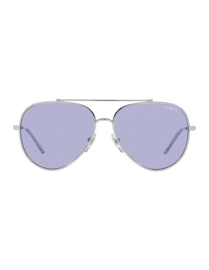 MBB X VOGUE Silver/Purple Aviator Sunglasses 0VO4212S 1536498003 image 2