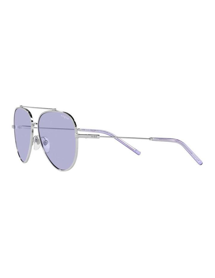 MBB X VOGUE Silver/Purple Aviator Sunglasses 0VO4212S 1536498003 image 3
