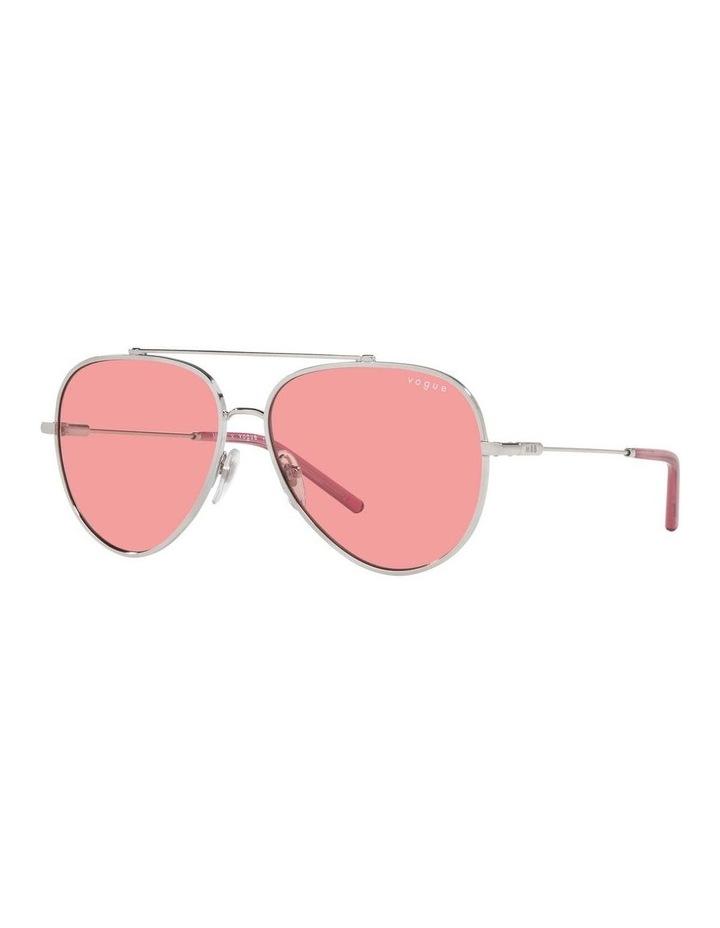 MBB X VOGUE Silver/Coral Aviator Sunglasses 0VO4212S 1536498004 image 1