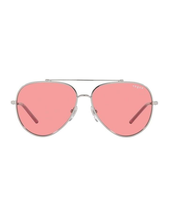 MBB X VOGUE Silver/Coral Aviator Sunglasses 0VO4212S 1536498004 image 2