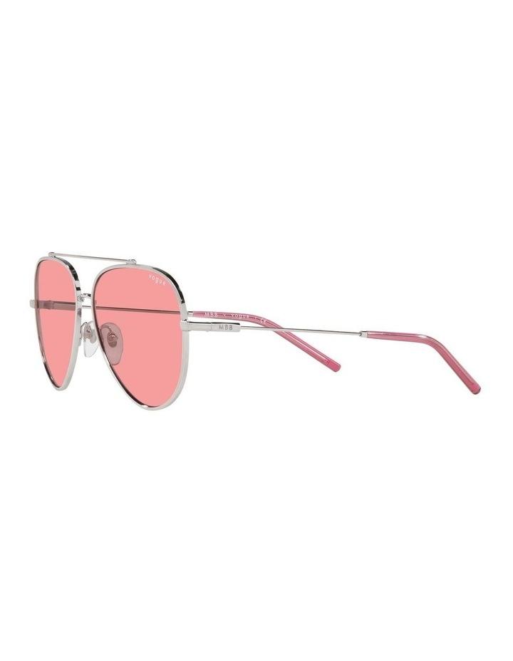 MBB X VOGUE Silver/Coral Aviator Sunglasses 0VO4212S 1536498004 image 3