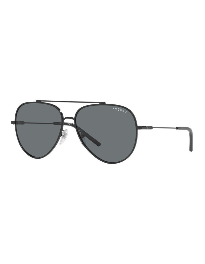 MBB X VOGUE Polarised Black Aviator Sunglasses 0VO4212S 1536498005 image 1