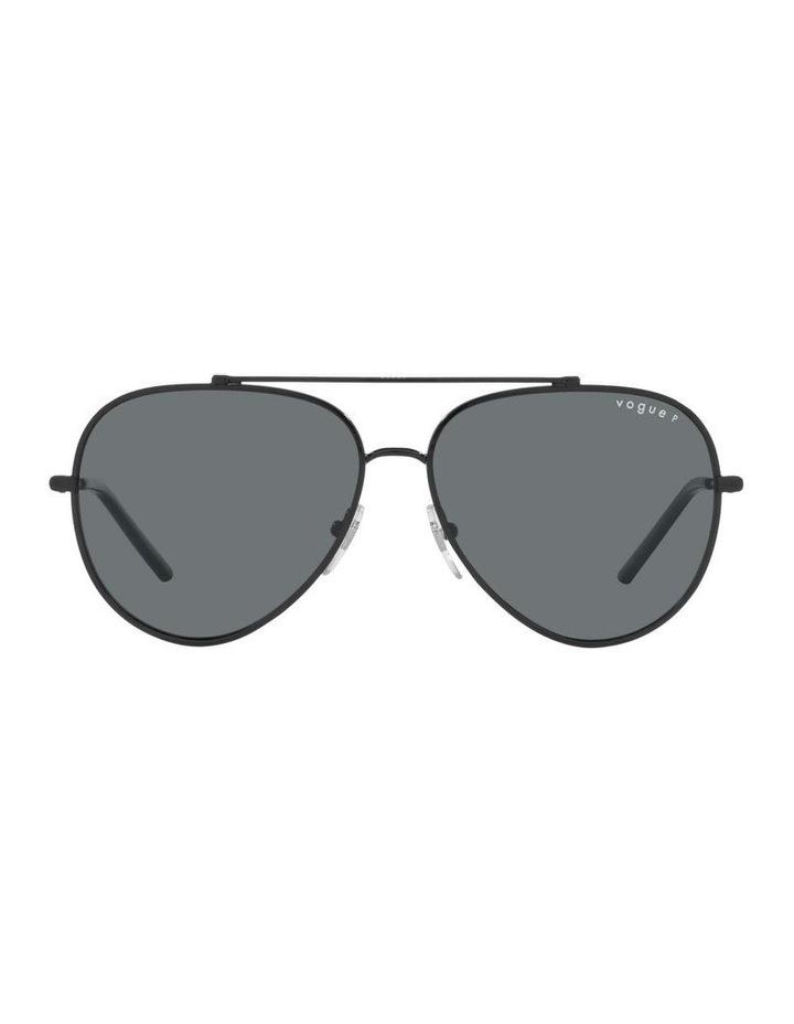 MBB X VOGUE Polarised Black Aviator Sunglasses 0VO4212S 1536498005 image 2