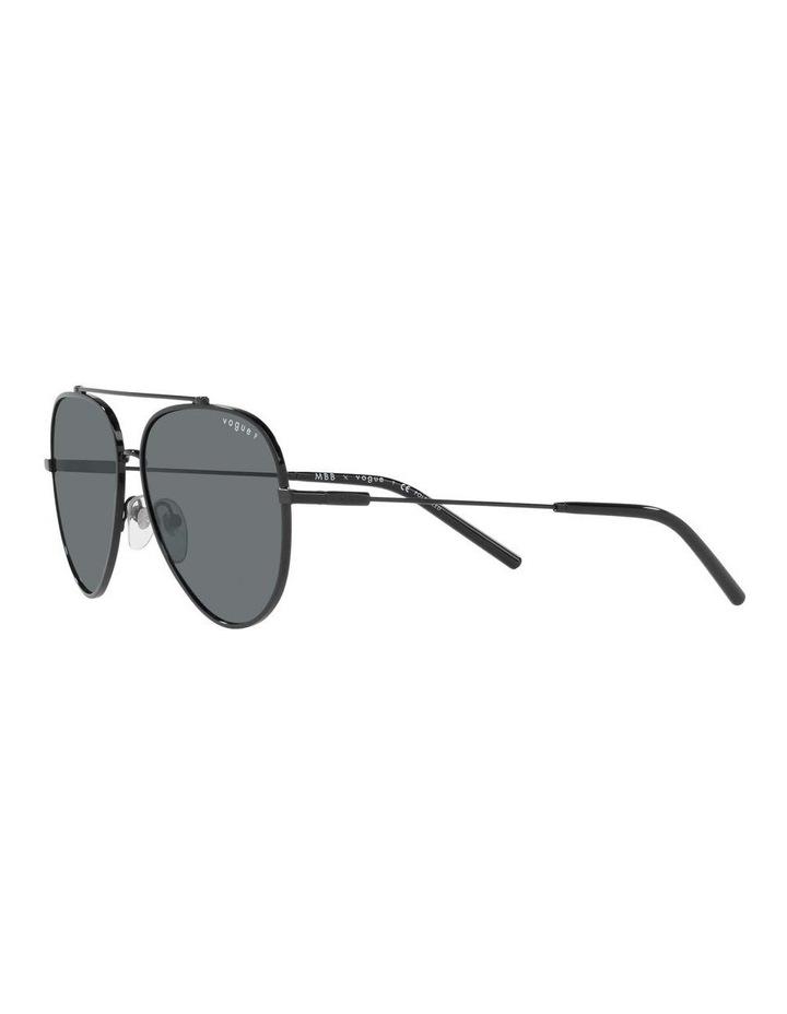 MBB X VOGUE Polarised Black Aviator Sunglasses 0VO4212S 1536498005 image 3