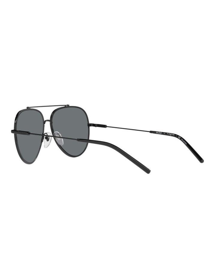 MBB X VOGUE Polarised Black Aviator Sunglasses 0VO4212S 1536498005 image 5