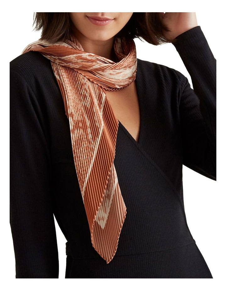 Pleated Square Neck Scarf image 2