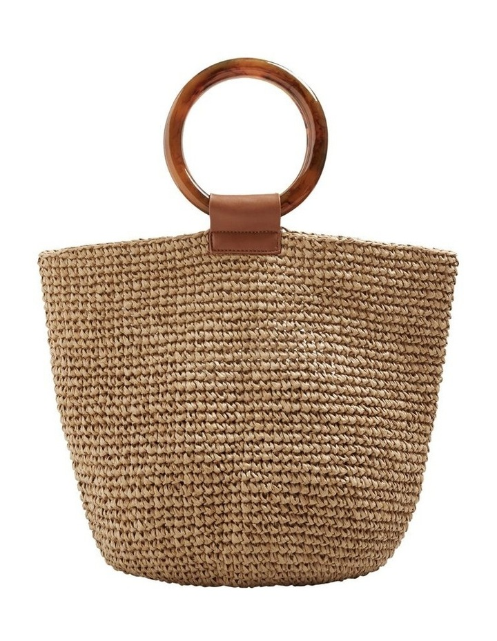 Ring Handle Woven Tote image 1