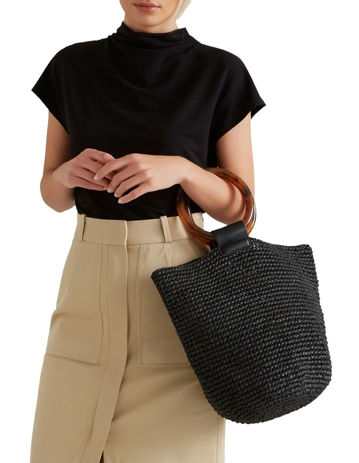 Ring Handle Woven Tote image 2