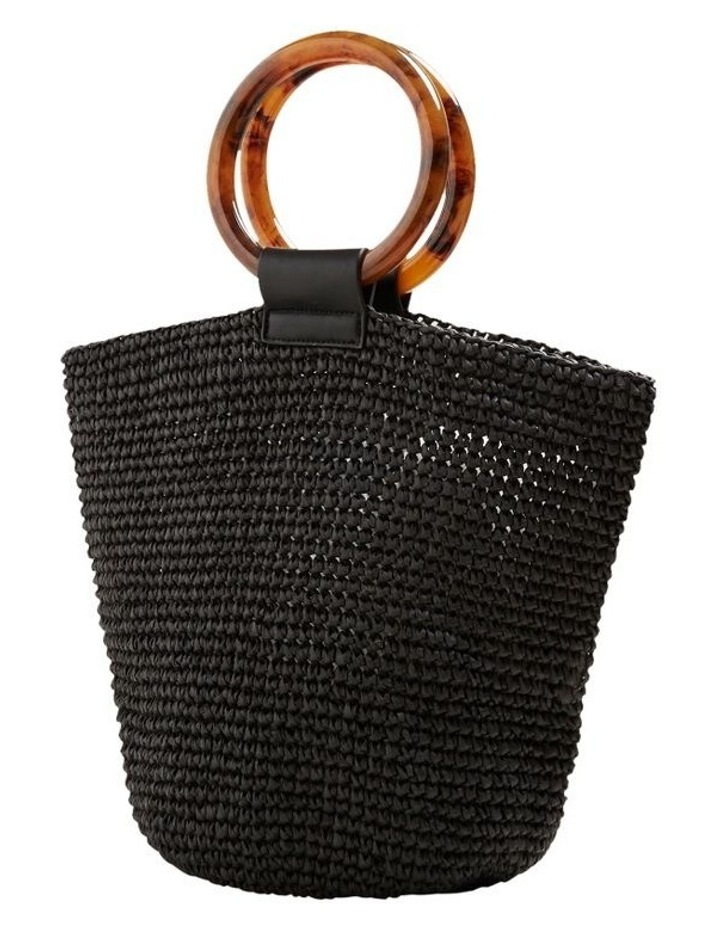 Ring Handle Woven Tote image 3