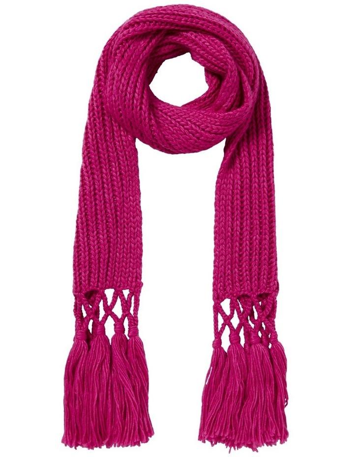 Tassel Knit Scarf image 1