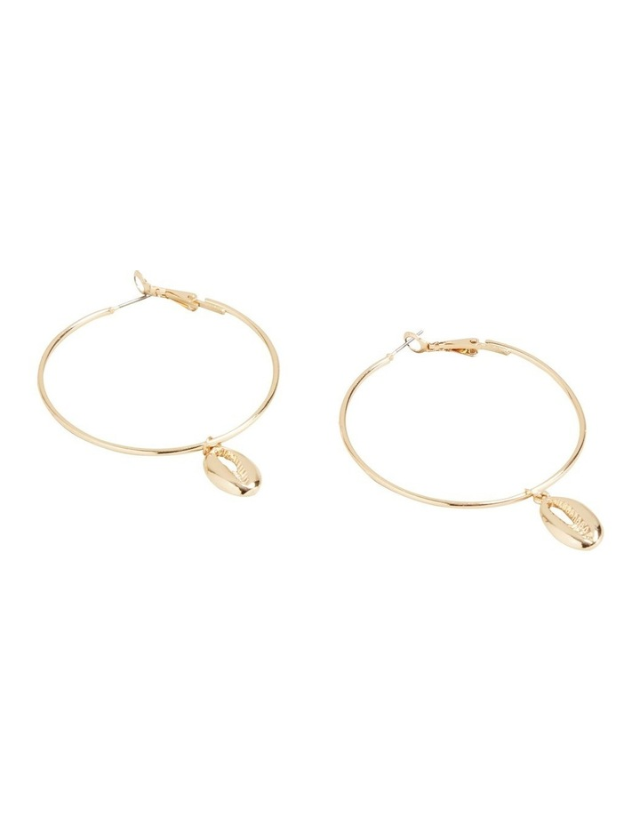 Shell Hoop Earrings image 1