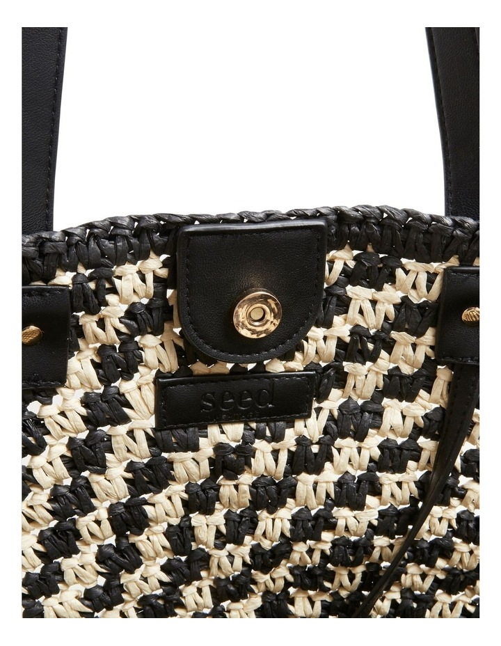 Two Tone Straw Tote image 5
