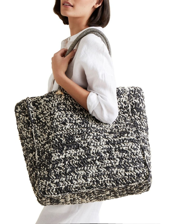 Two Tone Straw Tote image 2