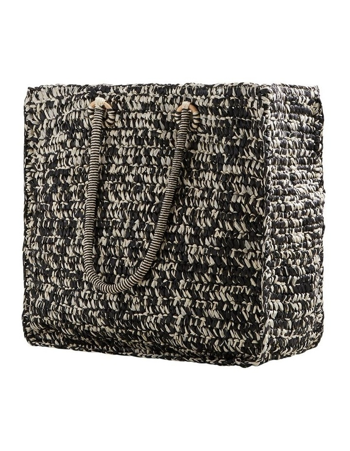 Two Tone Straw Tote image 4