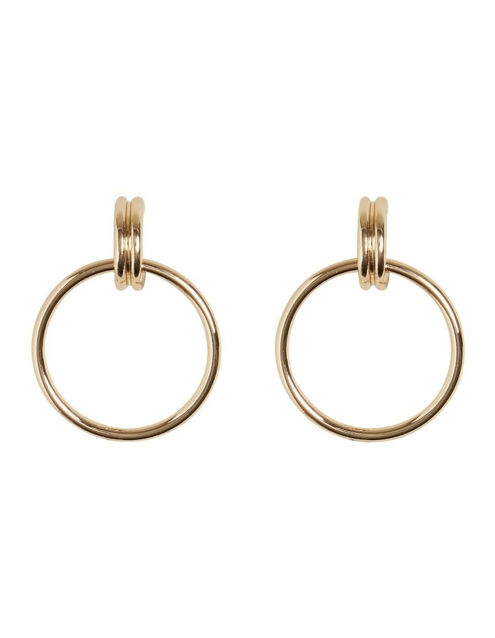 Double Gold Hoops image 1
