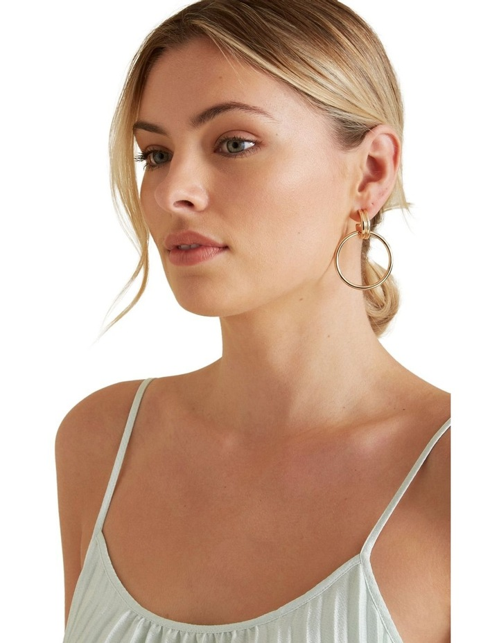 Double Gold Hoops image 2