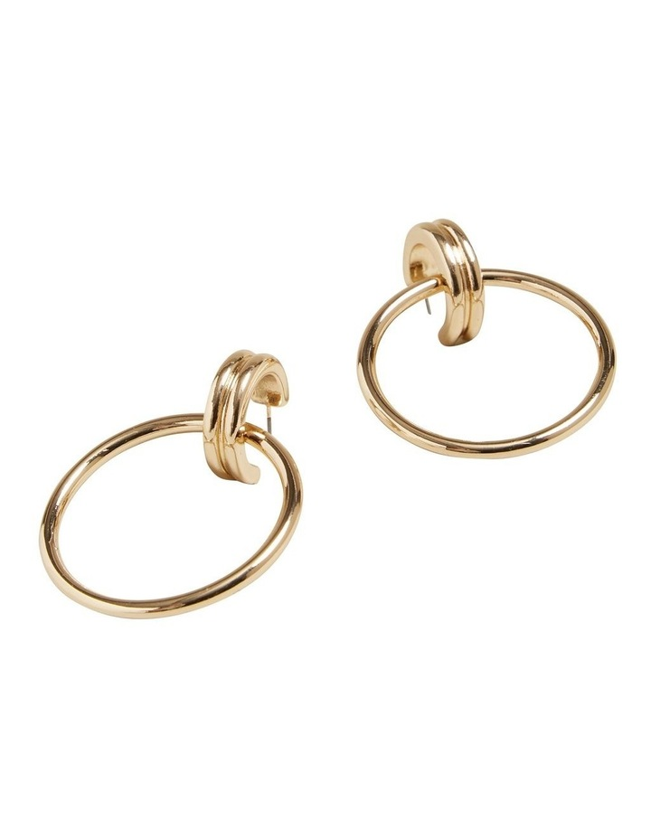 Double Gold Hoops image 3
