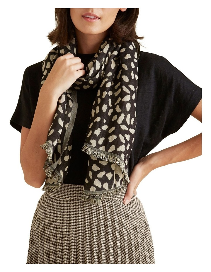 Abstract Spot Jacquard Scarf image 2