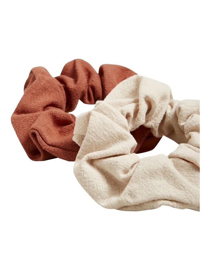 Linen Look Scrunchie image 4