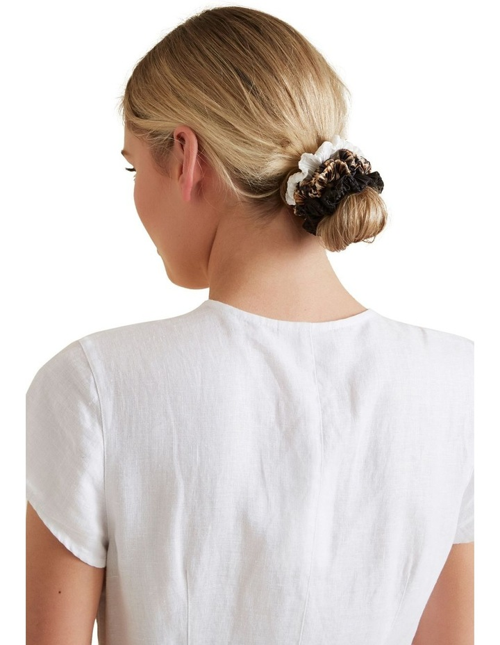 Pleated Scrunchie 3 Pack image 2