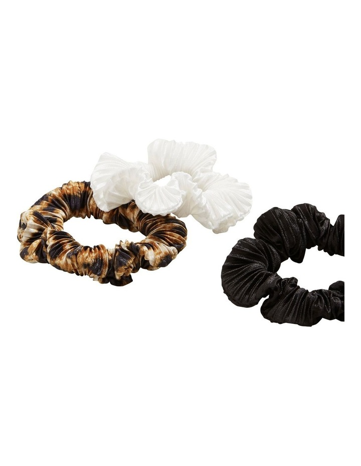 Pleated Scrunchie 3 Pack image 3