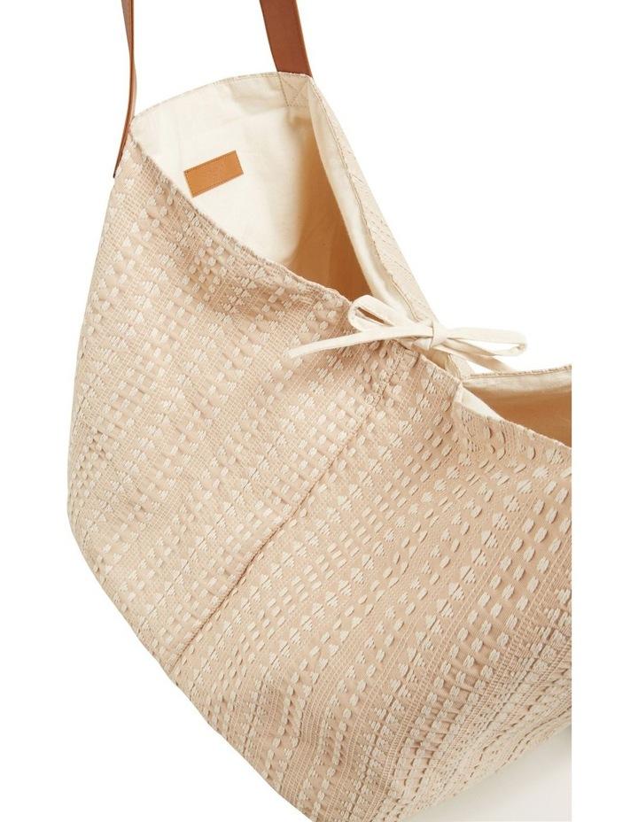 Textured Tassel Tote image 5