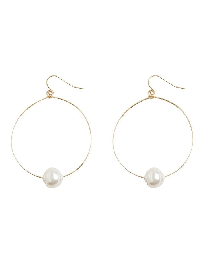Simple Pearl Hoops image 1