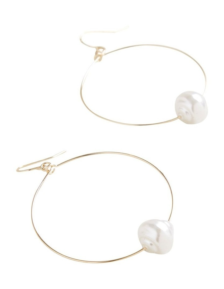 Simple Pearl Hoops image 3