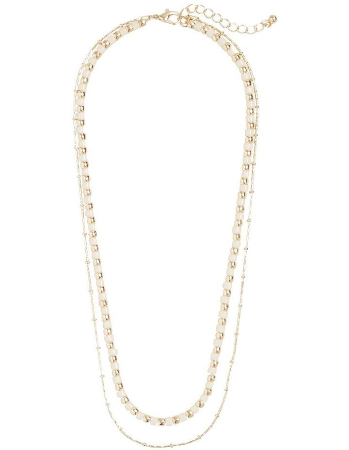 Contrast Bead Necklace Set image 1