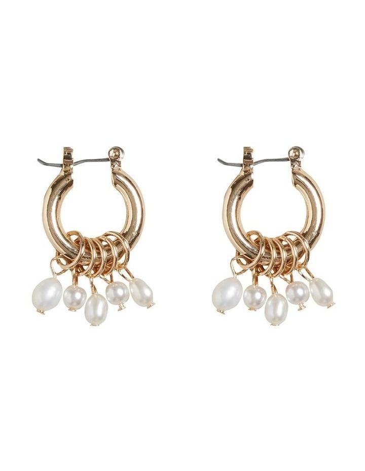 Multi Pearl Hoops image 1